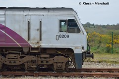 8209 at Claremorris, 13/4/19 (hurricanemk1c) Tags: claremorris railways railway train trains irish rail irishrail iarnród éireann iarnródéireann 2019 generalmotors gm emd 201 enterprise northernirelandrailways nir 8209 0935northwallballina iwtliner industrialwarehousingandtrading