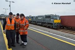 075+082 at Claremorris, 13/4/19 (hurricanemk1c) Tags: claremorris railways railway train trains irish rail irishrail iarnród éireann iarnródéireann 2019 generalmotors gm emd 071 075 082