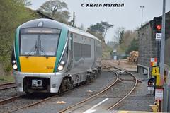 22024 at Westport, 13/4/19 (hurricanemk1c) Tags: westport railways railway train trains irish rail irishrail iarnród éireann iarnródéireann 2019 22000 rotem icr rok 4pce 22024 1815westportheuston