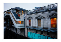 The Old Station (Thomas Listl) Tags: thomaslistl color berlin 35mm evening light architecture mood windows station trainstation water river reflection halleschestor ngc urban city