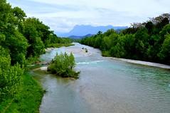 La Drôme, à hauteur de Crest (Nathery Reflets) Tags: eau rivière drôme rhônealpes crest paysage nature
