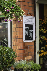 Always good for a smile (tootdood) Tags: canon6dmkii manchester tib street always good for smile chalkboard floral flower shop