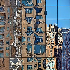 Segmented Reflection (2n2907) Tags: segmented reflection colorful abstract glass office building windows skyscraper architecture graphic pattern urban city wonky lines distorted image cubist cubism