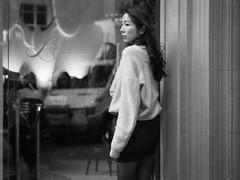 Laurent (McLovin 2.0) Tags: people candid portrait girls street streetphotography urban city melbourne bokeh olympus 45mm em1 monochrome bw beauty style