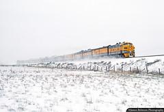 Snowy Dome Cars (jamesbelmont) Tags: riogrande drgw riograndezephyr mapleton utah passenger streamliner emd f9 railroad railway locomotive train snow utahvalley