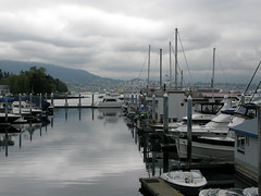 Coal Harbour (tamasmatusik) Tags: vancouver coalharbour canada kanada water cloud clouds cloudy april spring vessel vessels canon canong9 g9 overcast gloomy moody reflection
