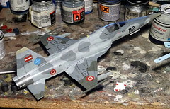 "1:72 Northrop F-5L ""Tiger II""; aircraft ""112 Black"" (s/n 81-26112) of the Latvijas Gaisa spēki (Latvian Air Force, LAF) Fighter Squadron; Lielvārde Air Base, 2010 (Whif/Italeri kit) - WiP (dizzyfugu) Tags: 172 northrop f5 f5e f5l tiger ii skoshi latvia air force lielvārde base latvijas gaisa spēki aim9 aim120 sidewinder amraam interceptor baltic sea nato modellbau dizzyfugu whif whatif fictional aviation italeri model kit norm grey"