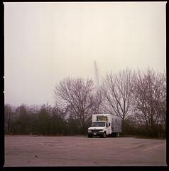 Foggy summer morning. (Brjann.com) Tags: fog morning hasselblad alone lonely melancholy analog film kodakfilm kodak portra 160 kp160 medium format 6x6 toronto canada