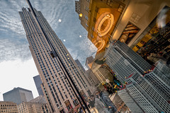 Lego (safran83) Tags: newyork reflections street manhattan lego rockfellercenter midtown irix11mm