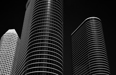 Chevron (former Enron) Towers (infrared) (dr_marvel) Tags: ir infrared houston tx texas blackandwhite chevron enron towers glass curves lines oil airline continentalairlines continental