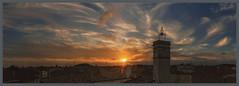 Panoramique Coucher de soleil campanile vertical (15 images) FR (Olpo2vin) Tags: olpo ciel sky nuages clouds nubes nuvole wolken nuvens campanile coucherdesoleil sunset panoramique redessan 30129 toitsdeprovence photomerge