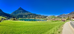 Lake Thiersee and Pendling mountain in Tyrol, Austria (UweBKK (α 77 on )) Tags: lake thiersee water green grass field meadow pendling mountain panorama scenery scene scenic landscape tyrol tirol austria österreich europe europa iphone