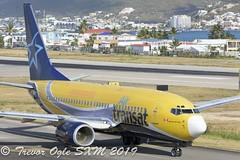 DSC_8776Pwm (T.O. Images) Tags: air transat boeing 737 737700 sxm st maarten princess juliana airport