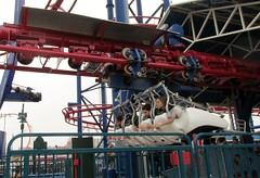 Coney Island - Soaring Eagle (Stabbur's Master) Tags: amusementpark nyc newyork themepark newyorkcity soaringeagle lunapark brooklyn coneyisland rollercoaster