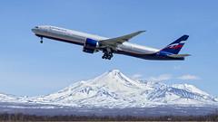 Aeroflot Boeing 777-3M0(ER) VQ-BIL, takeoff on RW34L (Zhuravlev Nikita) Tags: boeing 777 kamchatka uhpp spotting elizovo aeroflot