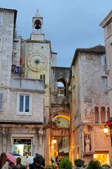 Old Town Clock Tower (sfryers) Tags: narodnitrg pjaca peoplessquare clock tower evening historic city split dalmatia croatia hrvatska smc pentaxfa 35mm 12