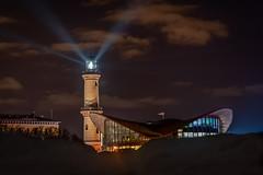 A light in the dark - Ein Licht im dunkeln (ralfkai41) Tags: nacht lighthouse leuchtturm architektur nightshot night warnemünde architecture nachtfotografie lights lichter rostock wolken clouds