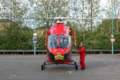 London's Air Ambulance in Cricklewood (kertappa) Tags: img7009 air ambulance londons london hems doctor paramedics hospital gehms emergency helicopter kertappa broadway retail park cricklewood