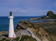 Castlepoint Lighthouse (andrew.kiel) Tags: film:brand=fuji film:iso=50 film:name=velvia50professional geo:lat=4089980658 geo:lon=17623161627 geotagged mittelformat mediumformat 120 6x45 pentax645 analog analogue neuseeland newzealand aotearoa unedited