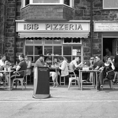 The Isis Pizzeria (Howie Mudge LRPS BPE1*) Tags: mamiyac220professional tlr twinlensreflex 6x6 120 120film mediumformat analog analogphotography film filmphotography filmcamera fomapan fomapan400 epsonv800 blackandwhite mono monochrome kodakhc110 selfdevelop