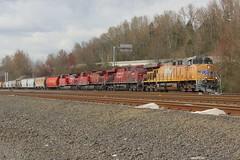 5477 +8786 + 8566 Boeing Field 24.03.19-1 (jonf45 - 5 million views -Thank you) Tags: railroad seattle washington bnsf train diesel locomotive union pacific ge es44ac 5477 canadian 8786 8566