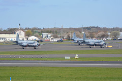 9 and 11 French Navy Dassault Breguet Atlantique EGPK 10/4/19 (David K- IOM Pics) Tags: egpk pik glasgow prestwick airport exercise joint warrior jointwarrior mpa maritime patrol aircraft france french navy dassault breguet atlantique atla