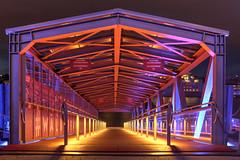 BrückeBlue (druidehh) Tags: photocallange2019 vanishingpoint mavoto hamburg bruecke brücke nacht licht lichtstimmung travel anleger schiffsanleger