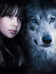 Anna Vinterfall_Raised By Wolves_2019 (anna.vinterfall) Tags: wolf child animal portrait raised by wolfs wild fineartphotography fineart femalephotographer