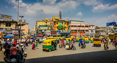 Traffic in City Market - Bangalore India (mbell1975) Tags: bangalore karnataka india traffic city market bengaluru indian congestion three wheeler 3 taxi taxis