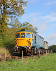 Crompton (Treflyn) Tags: br blue brcw class 331 33 crompton bagpipes 33102 sophie top foxfield bank railway couple loaded mineral wagon east midlands photographic society emrps photo charter