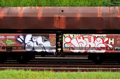 Graffiti on Freights (wojofoto) Tags: amsterdam nederland netherland holland graffiti streetart cargotrain vrachttrein freighttraingraffiti freighttrain freights fr8 wojofoto wolfgangjosten sin jake