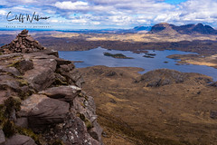 Looking to Suilven (cliffwilliams449) Tags: assynt scotland mountain landscape highlands stacpollaidh suilven quinnag viewpoint cairn summit lochan drama