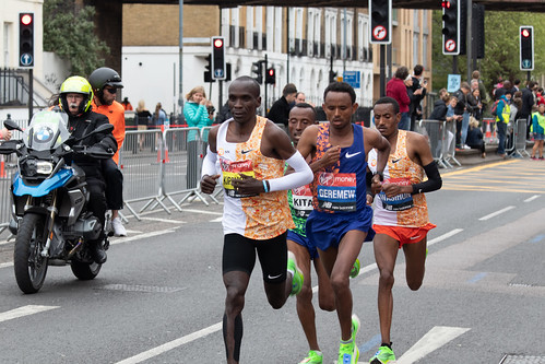 Race winner, Eliud Kipchoge