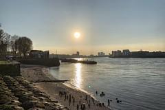 Greenwich Beach (marc.barrot) Tags: shotoniphone landscape beach riverthames uk se10 london eastgreenwich thamespath