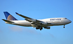 N180UA - Boeing 747-422 - LHR (Seán Noel O'Connell) Tags: unitedairlines n180ua boeing 747422 b747 b744 747 heathrowairport heathrow lhr egll sfo ksfo ua901 ual901 aviation avgeek aviationphotography planespotting
