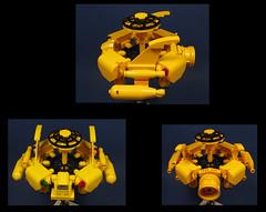 'Circle of Life' - Additional Views (Karf Oohlu) Tags: lego moc scifi microscale microspacetopia spaceship cargoship transporter