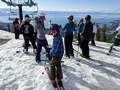 Closing day on Gunbarrel at Heavenly (benjaminfish) Tags: heavenly ski lake tahoe kid snow spring skiing april 2019