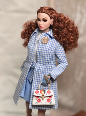 Blue & Pink (duckhoa_le) Tags: poppy parker blue pink rainbow connection fashion fairytale convention w club exclusive positively plaid red head ginger photography doll dolls barbie integrity toys dorothy oz british england uk london portrait girls women