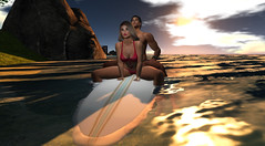 Waiting for Sunset (antoniohunter55) Tags: secondlife sunset surf board