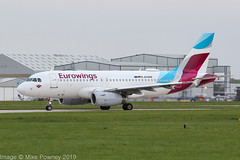 D-AGWB - 2006 build Airbus A319-132, taxiing for departure on Runway 23L at Manchester (egcc) Tags: 2833 a319 a319132 airbus dagwb egcc ew ewg eurowings lightroom man manchester ringway