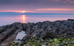 Arran sunset (AdelheidS Photography) Tags: adelheidsphotography adelheidsmitt adelheidspictures arran scotland uk unitedkingdom greatbritain goldenhour britain britishisles sunset lowtide longexposure