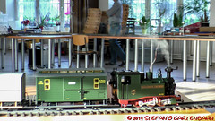 Stammtisch 04'19 (Stefan's Gartenbahn) Tags: stammtisch berlin brandenburg berlinbrandenburg gartenbahn eigenbau eigenbauten dampflok 0419 ivk ik alexanderthiemer sachsenzug güterwagen asf akkuschleppfahrzeug 3ddruck