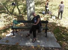 Pretend Writer (mikecogh) Tags: adelaide writersweek festivalofarts mc bench sign pretend pretence