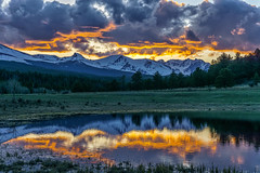 Indian Peaks sunset (andy_8357) Tags: mountains indian peaks wilderness area colorado spring springtime sawtooth snow sunset beautiful trees outdoors outside sony ilce6000 ilcenex selp1650 e pz 1650mm f3556 oss mirrorless emount a6000 6000 reflection pond water landscape alpha cloudy dramatic