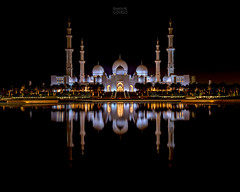 Sheikh Zayed Grand Mosque (Ramón M. Covelo) Tags: sheikh zayed grand mosque abu dhabi uae night reflection