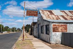 Sea Lake (Westographer) Tags: sealake victoria australia countrytown rural corrugatediron rust patina weathered signage typography corrugatedironshed streetscape autumnlight