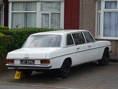 1973 Mercedes Benz 230 LWB Limousine (Neil's classics) Tags: vehicle 1973 mercedes benz 230lwb w114 limousine 2292cc abandoned car