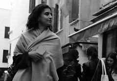Italian beauty (M. Word) Tags: happy phone smartphone scarf mobile womanmonochrome girl lady venice