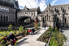 CHRIST CHURCH CATHEDRAL IN DUBLIN [PHOTOGRAPHED USING A SIGMA 14mm LENS]-152091 (infomatique) Tags: christchurch cathedral gardenofpeaceandprayer cathedraloftheholytrinity stpatricks dublinandglendalough publicart sculpture monumentmemorial religion streetsofdublin churchofireland april 2019 williammurphy sony a7riii sigma 14mm wideanglelens infomatique fotonique