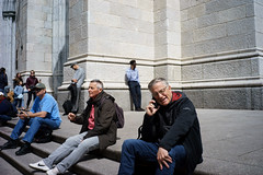 Steps (dtanist) Tags: nyc newyork newyorkcity new york city sony a7 7artisans 35mm manhattan midtown st patricks cathedral patrick saint steps stairs visitors church catholic
